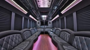 Amazing luxury interior of SUPER party bus