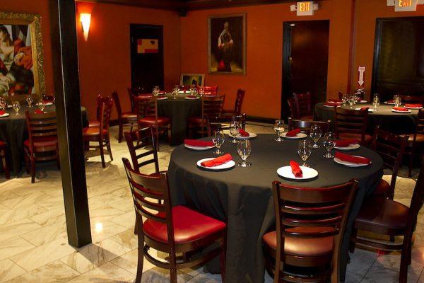 Main dining area at Firefly restaurant