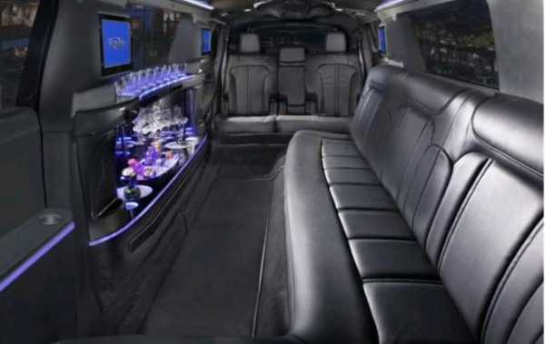 Interior Lincoln MKT 10 Passenger stretch limo for service in Las Vegas